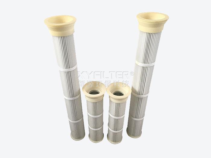 PU法兰材质上装式透气滤筒DN